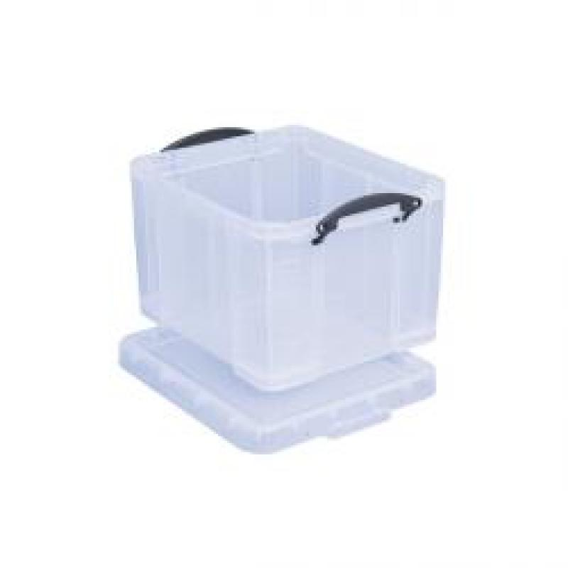 Really Useful Clear 35 litre Plastic Storage Box
