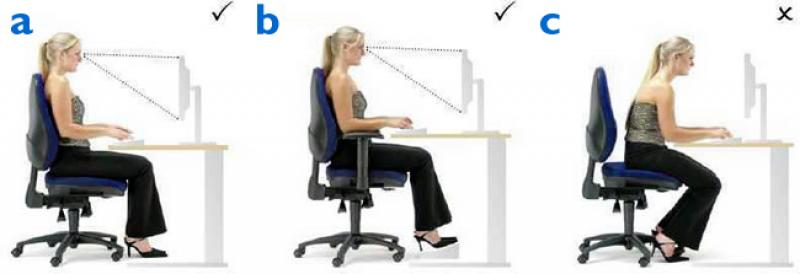 Correct office seating