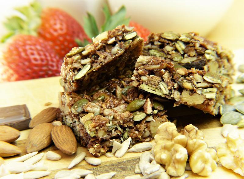 granola bars in pile