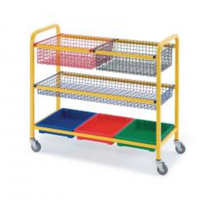 Storage Trolley with Baskets and Trays