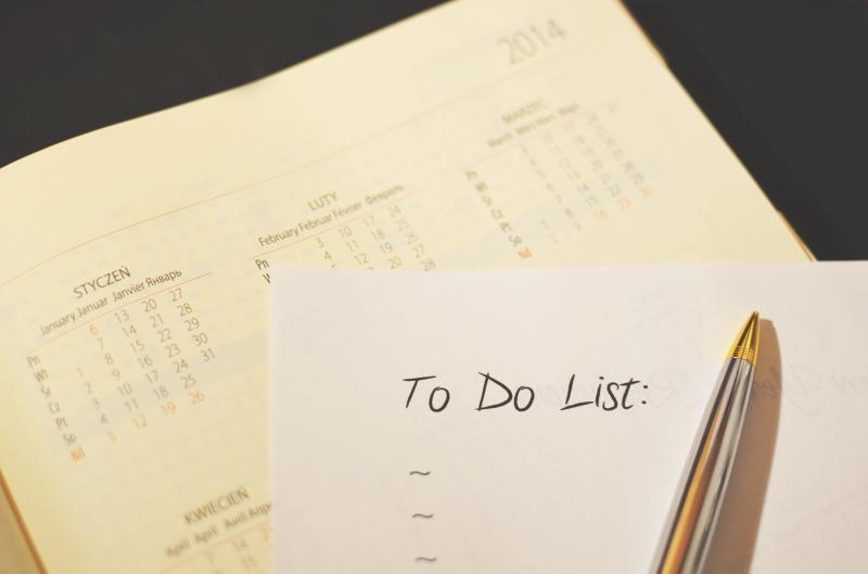 to do list with calendar