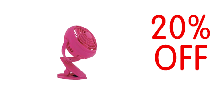 Rexel Joy 4 inch Mini Desk Fan Pretty Pink