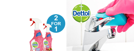 See Deal Dettol Power and Fresh Advance (1 Litre) Antibacterial Multi-Purpose Cleaner Trigger Spray (Pomegranate) [2 For 1] Dec 2017 3007938 Q4 Promo
